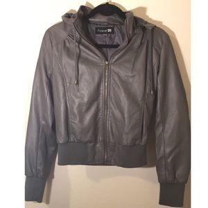 F21- Grey leather jacket